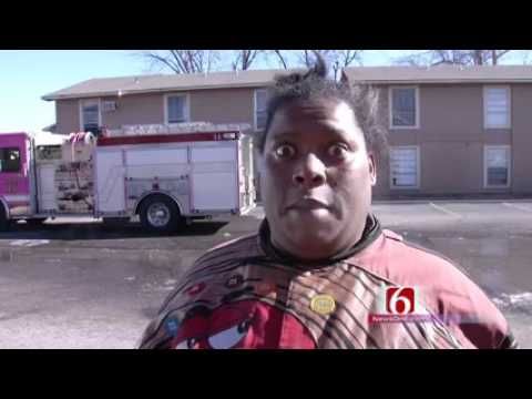 Funny interview after a fire
