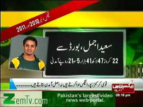 Annual Salaries of Pakistani Cricketers