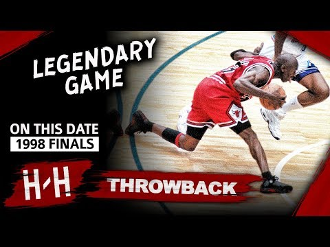Michael Jordan LAST Bulls Game, Game 6 Highlights vs Jazz 1998 Finals 45 Pts, EPIC CLUTCH SHOT