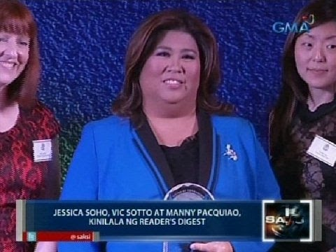 Saksi: Jessica Soho, Vic Sotto at Manny Pacquiao, kinilala ng Reader's Digest