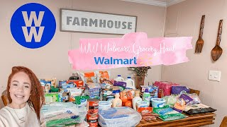 WW ( weight watchers)  Wal-Mart Two Week Grocery Haul!