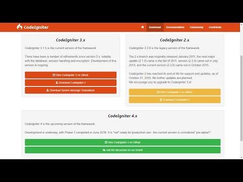 Perkenalan dan Instalasi CodeIgniter (1)