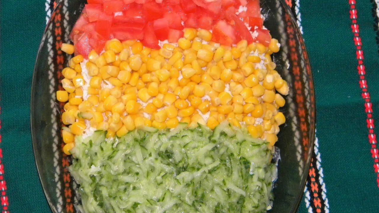 Салаты светофор рецепты с простые и вкусные