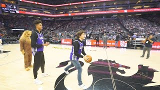 HALF COURT CHALLENGE IN FRONT OF 15,000 PEOPLE! NBA ARENA