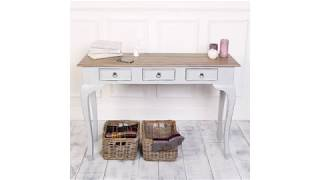 Strong And Elegant Wood Console Table With Drawers