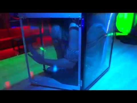 Contortionist Flexible Hot Girl Fits Inside a Glass Box - Video