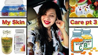 Vitamines & Medicines I Use For Healthy Skin | My Skincare Part 3 | SS vlogs :-) | Hindi