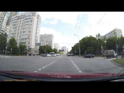 Rollover car accident Moscow