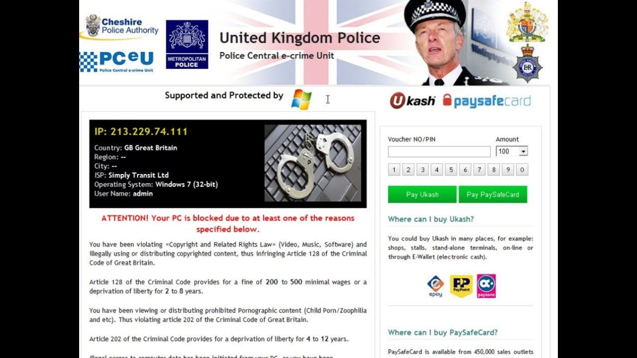 police pirate sites with warning notices instead