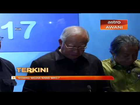 Press conference with PM Najib Razak on flight MH17