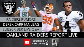 Oakland Raiders Rookie Training Camp News, Derek Carr Rumors, Defensive Players With Most To Prove
