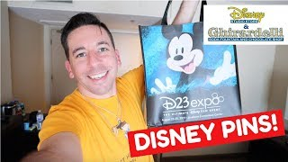 D23 EXPO 2019 DAY 1: Disney Studio Store Hollywood Pin Releases!