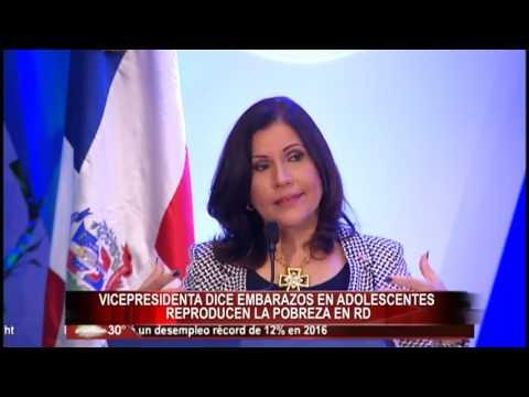 Vicepresidenta dice embarazos en adolescentes reproducen la pobreza en RD