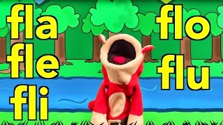 Sílabas fla fle fli flo flu - El Mono Sílabo - Canciones infantiles