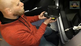 How to replace fan blower motor front (AC, heater) for VW Sharan 7N / Seat Alhambra