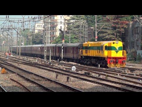 World's Leading Luxury Train - Maharajas' Express Captured Cruising at Mumbai, India