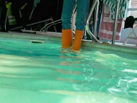 With orange wellies in a pool (part 1)