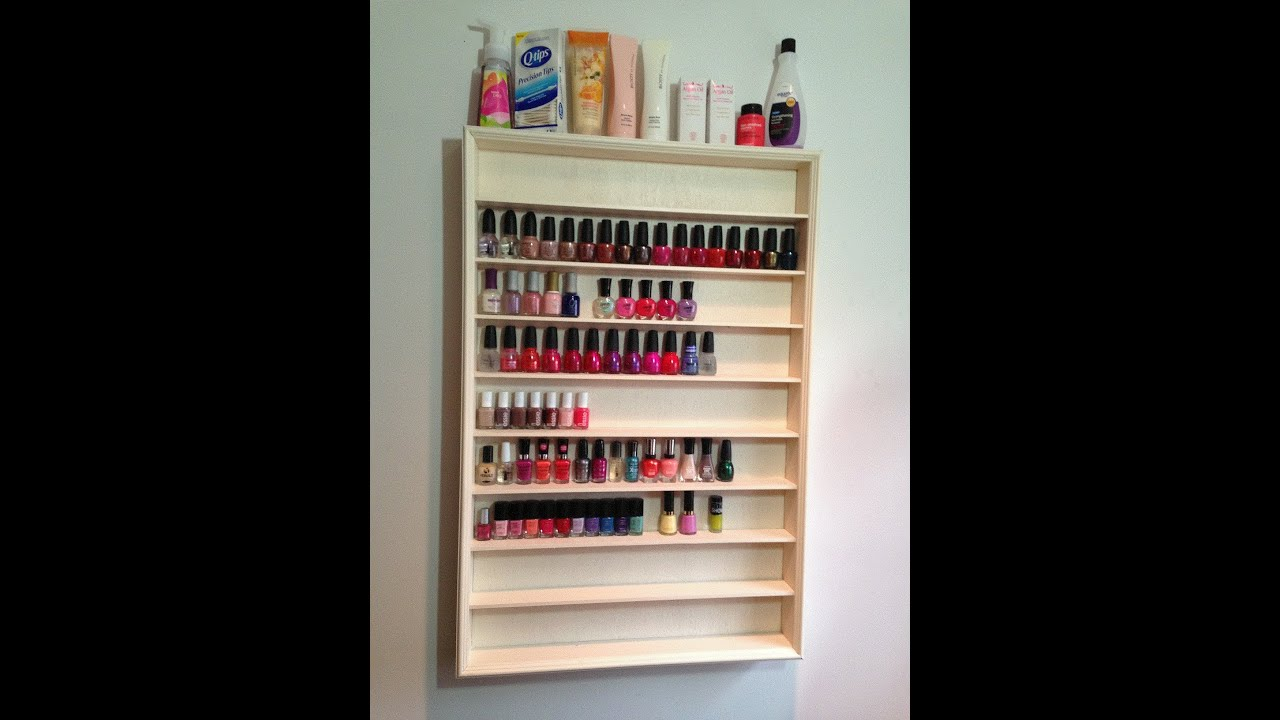 How To Build Diy Wood Nail Polish Rack Plans Woodworking Rustic Shelf Cute92zhm