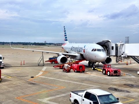 American Airlines Airbus A319; Cleveland to Dallas/Fort Worth N8001N