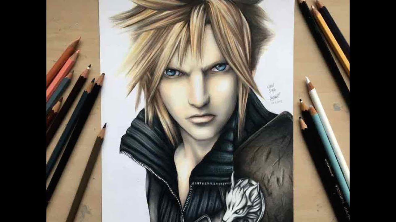 Fantasy Clouds Drawing Drawing Cloud Strife From