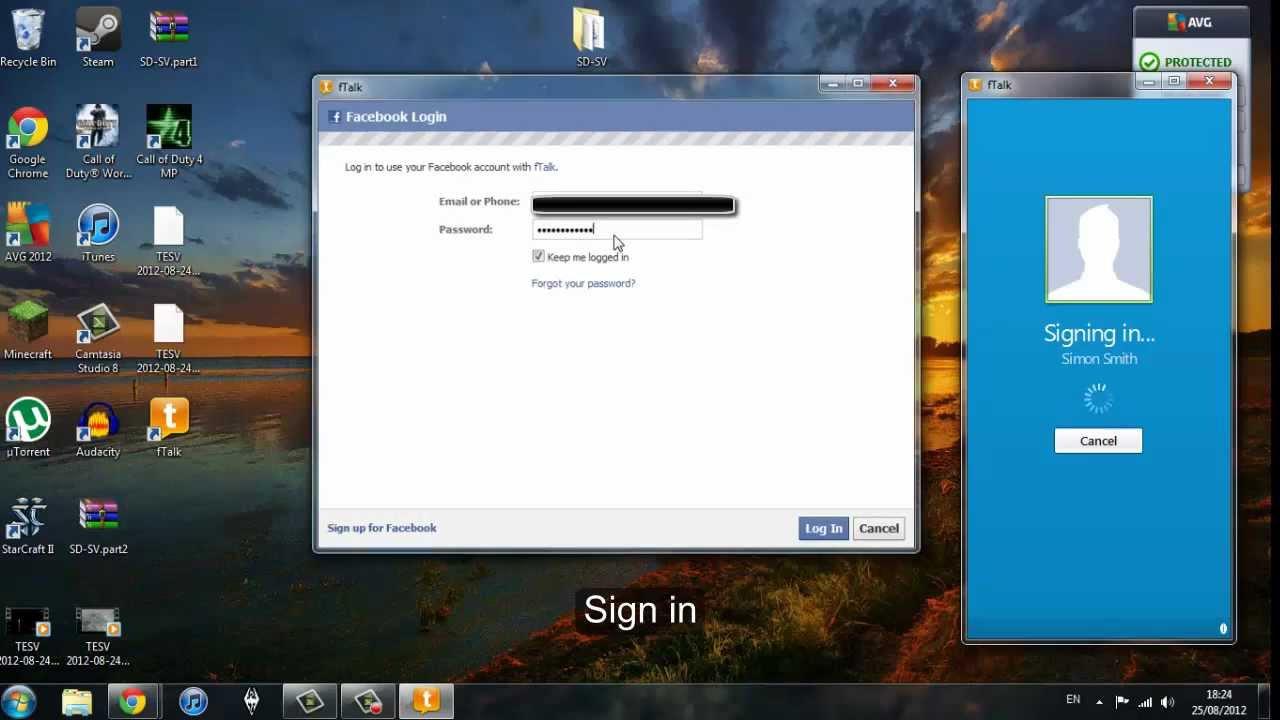 Chat desktop application ftalk download amp install youtube