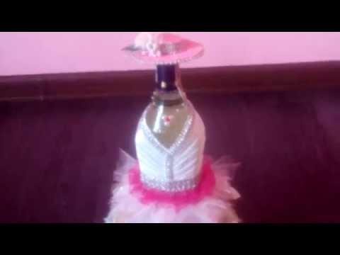 Как украсить бутылку мартини