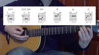 Nirvana About a Girl How to play on acoustic Guitar Lesson