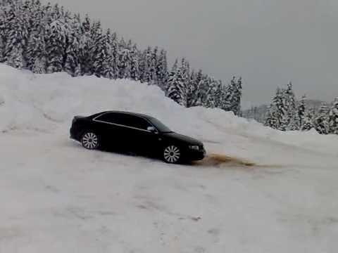 audi quattro in snow vila trikala