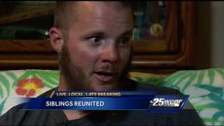 Brother and sister reunite after 20 years apart