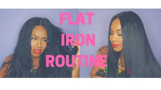 BONE STRAIGHT FLAT IRON ROUTINE