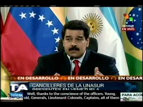 Maduro denounces coup attempt by three Generals