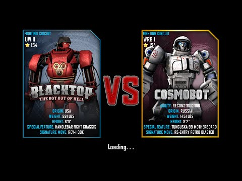 Real Steel WRB Free Sparring | BlackTop(UW II-154) VS Cosmobot(WRB I-154) | NEW ROBOT UPDATE