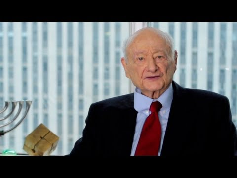 Former Mayor Ed Koch is proud to stand with President Obama