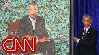 President Obama's official portrait unveiled