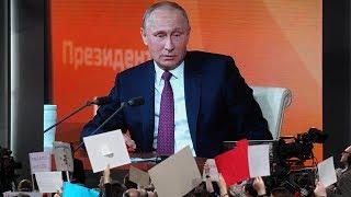 Russian President Putin holds marathon press conference