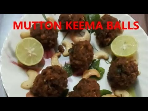 MUTTON KEEMA BALLS IN TELUGU||RAMA SWEET HOME