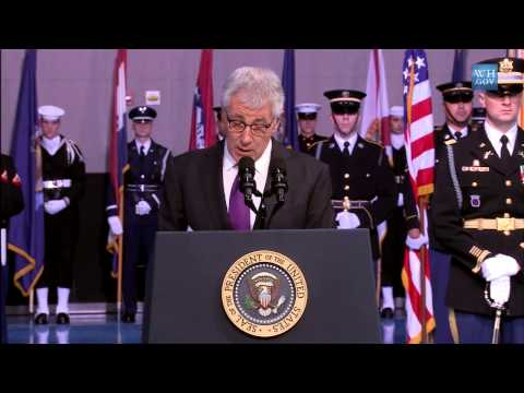 Obama's Farewell Tribute To Chuck Hagel- Full speech