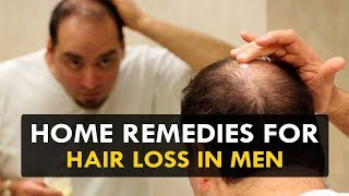 Home Remedies For Hair loss in Men - Health Sutra