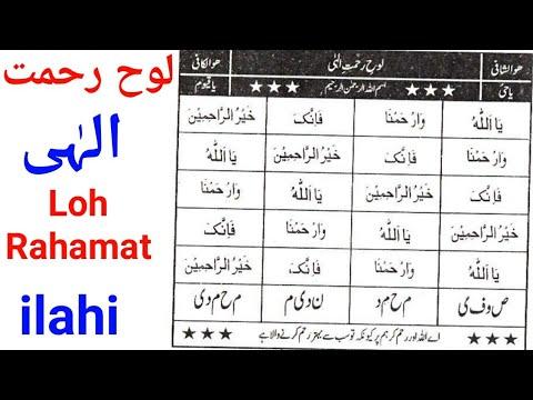 Loh Rahamat ilahi Ka Wazifa / Allah Ki Rahmat Ka Wazifa