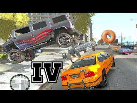 GTA IV - Crashes, Bailouts, Ragdolls & Fails Compilation #32 [1080p]