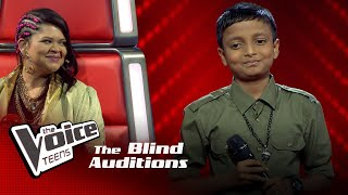 Sonal Dilmin | Veedi Kone Mawatha Addara Blind Auditions | The Voice Teens Sri Lanka