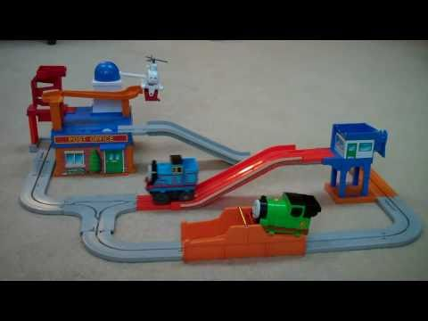 Tomy Post Office Thomas The Train Big Loader Set Percy & Harold Kids Toy Train Set Thomas The Tank