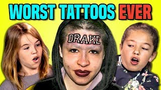 10 WORST TATTOOS EVER (REACT)