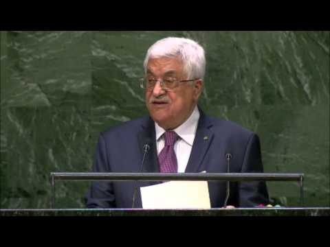 Pres. Abbas, UN General Assembly, September 26, 2014