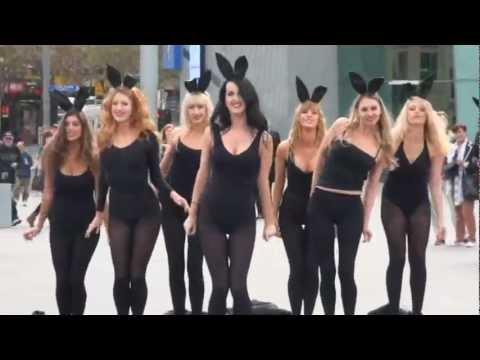 Playboy Bunny Flash mob