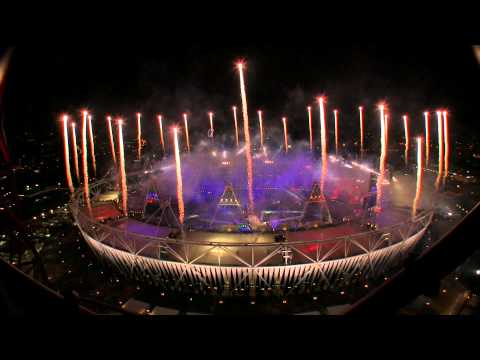 Fireworks: London 2012 Olympics Closing Ceremony