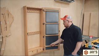 Curly Ash Jewelry Cabinet