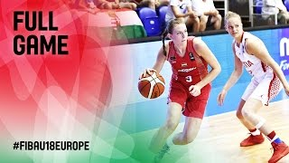 Croatia v Hungary - Full Game - FIBA U18 Women's European Championship 2016