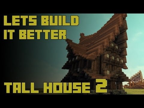 Tutorial: How to Build a Large Minecraft Medieval/Nordic House Part 2: Secondary Walls HD