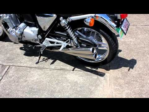 Honda CB1100 with Pipemasters 4 into 4 polished stainless steel exhaust